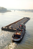 Transportation at the Danube — Stock Photo