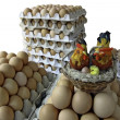 Raw eggs for Easter — Stock Photo