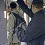 Bus pickpocketing — Stock Photo