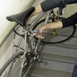 Stealing bike — Stock Photo
