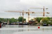říční loděnice — Stock fotografie