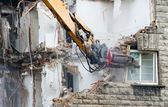 Demolition excavator — Stock Photo
