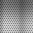 Royalty-Free Stock Photo: Metal holed or perforated grid background