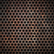 Grunge metal grid background — Stock Photo