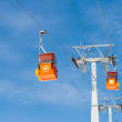Two ski lift cable cars — Stock Photo