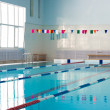 Stock Photo: Empty new school swimming pool