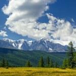 Panorama of North-Chuya ridge, Altai mountains — Stock Photo