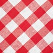 Royalty-Free Stock Photo: Red checked fabric tablecloth