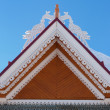 Roof of traditional wooden house — Stock Photo