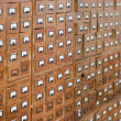 Stock Photo: Old wooden card catalogue
