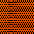Stock Photo: Red metal holed or perforated grid background