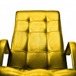 Golden armchair concept - 图库照片