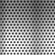 Metal holed or perforated grid background — Stock Photo
