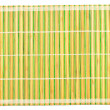 Stock Photo: Bamboo placemat isolated on white
