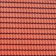Red tiles of modern rooftop — Stock Photo
