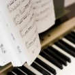 Stock Photo: Musical notes on composer