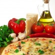 Royalty-Free Stock Photo: Homemade pizza and ingredients