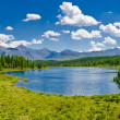 Panorama of lake, Altai, Russia — Stock Photo