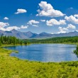 Panorama of lake, Altai, Russia - Stock Photo