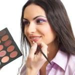 Makeup lips applying — Stock Photo