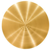 Brass round metal plate or disk — Stock Photo