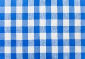 Toalha de tecido marcado azul — Foto Stock