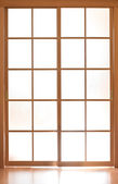 Sliding glass door in japan style — Stock Photo