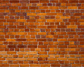 Sharp and colorful brick wall of 19th century — Stock Photo