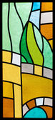 Stained glass with abstract pattern — Stock Photo