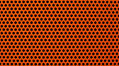 Red metal holed or perforated grid background — Stock Photo