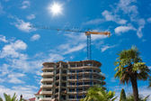 Multistory hotel building construction — Stock Photo