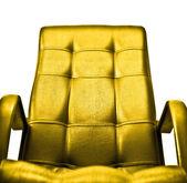 Golden armchair concept — Stock Photo