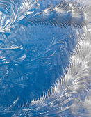 Abstract window frost background — Stock Photo