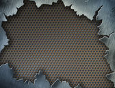 Cracked metal texture or frame or template for your design — Stock Photo