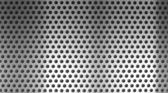 Metal holed or perforated grid background — Foto Stock