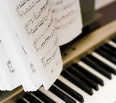 Musical notes on composer — Stock Photo