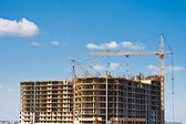 Construcción de edificios de varios pisos — Foto de Stock