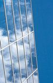 Fragmento de vidro moderna construção muro — Foto Stock