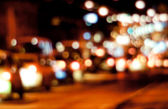 Blurred urban night scene — Stock Photo