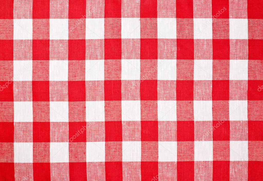 Checkered Cloth Tablecloth : Red checked fabric tablecloth — Stock Photo © Andrey_Kuzmin ...