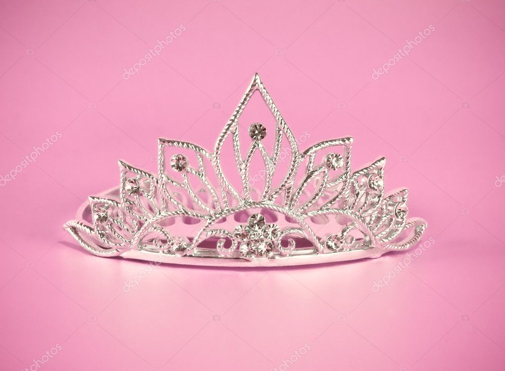 free pink background images. diadem on pink background