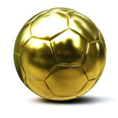 Soccer ball gold — Stock Photo