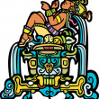 Reclining Mayan - Stock Vector