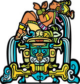 Reclining Mayan — Stock Vector