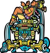 Reclining Mayan — Stock Vector