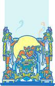 Reclinada mayas 4 — Vector de stock