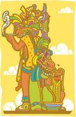 Mayan Priests — Stock Vector