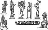 Mayan Group B — Stock Vector