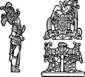Mayan Group C — Stock Vector