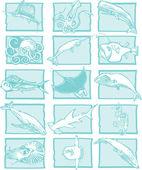Fish Theme — Stock Vector